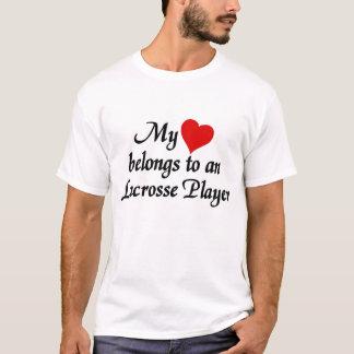My heart belongs to A Lacrosse Player T-Shirt
