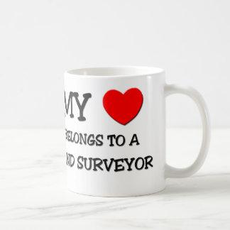 My Heart Belongs To A LAND SURVEYOR Coffee Mug