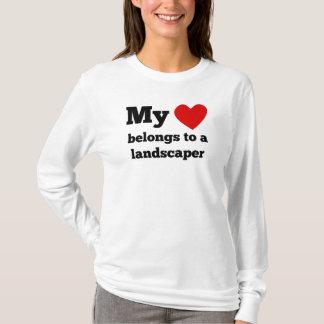 My Heart Belongs To A Landscaper T-Shirt