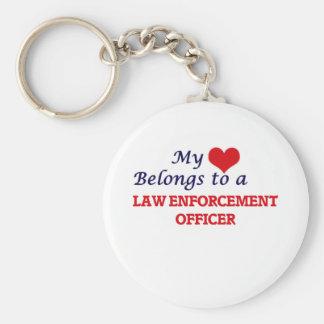 My heart belongs to a Law Enforcement Officer Keychain