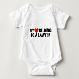 My Heart Belongs to a Lawyer Infant Creeper