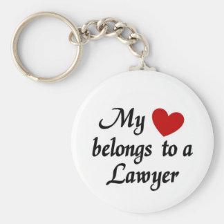 My heart belongs to a Lawyer Keychain