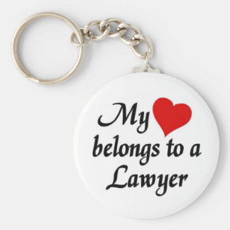 My heart belongs to a Lawyer Keychain