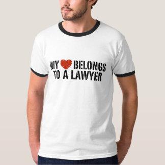 My Heart Belongs to a Lawyer Shirt