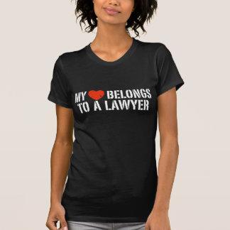 My Heart Belongs to a Lawyer T-shirt