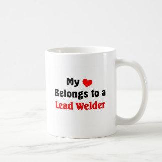 My heart belongs to a Lead welder Coffee Mug