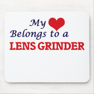 My heart belongs to a Lens Grinder Mouse Pad