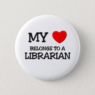 My Heart Belongs To A LIBRARIAN Button