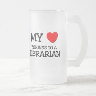 My Heart Belongs To A LIBRARIAN Coffee Mugs