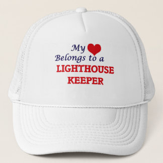 My heart belongs to a Lighthouse Keeper Trucker Hat