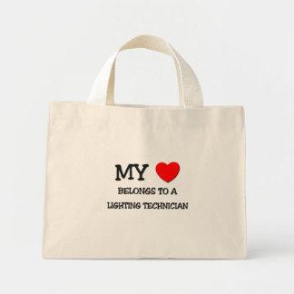 My Heart Belongs To A LIGHTING TECHNICIAN Canvas Bag