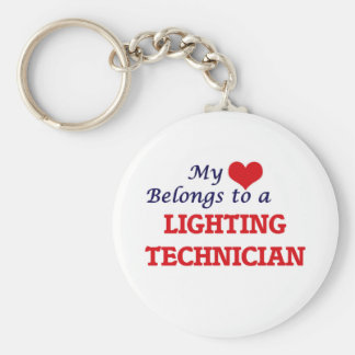 My heart belongs to a Lighting Technician Keychain