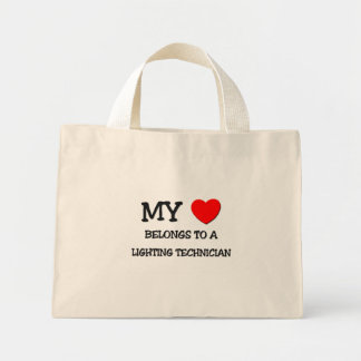My Heart Belongs To A LIGHTING TECHNICIAN Mini Tote Bag