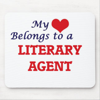 My heart belongs to a Literary Agent Mouse Pad