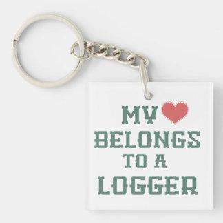 My Heart Belongs to a Logger Keychain