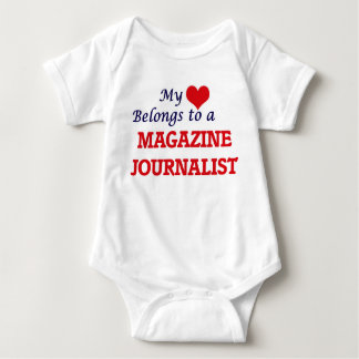 My heart belongs to a Magazine Journalist Baby Bodysuit