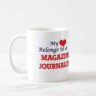 My heart belongs to a Magazine Journalist Coffee Mug