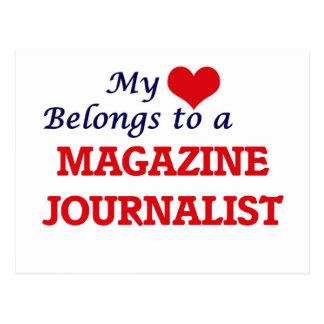 My heart belongs to a Magazine Journalist Postcard