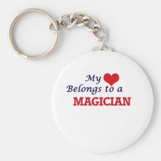 My heart belongs to a Magician Keychain