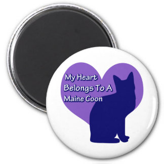 My Heart Belongs to a Maine Coon 2 Inch Round Magnet