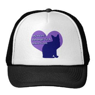 My Heart Belongs to a Maine Coon Trucker Hat