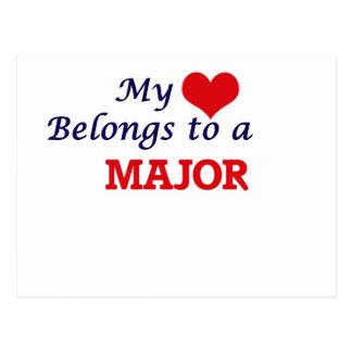 My heart belongs to a Major Postcard