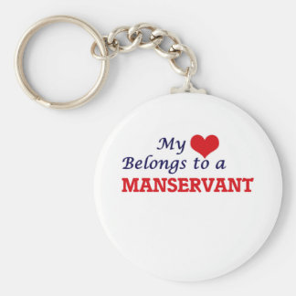 My heart belongs to a Manservant Keychain