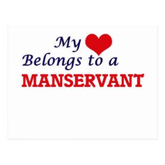 My heart belongs to a Manservant Postcard