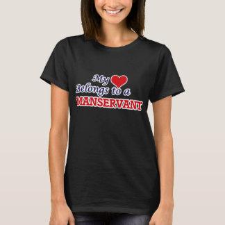 My heart belongs to a Manservant T-Shirt
