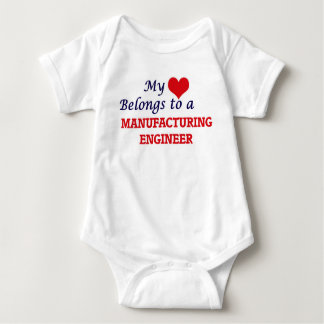 My heart belongs to a Manufacturing Engineer Baby Bodysuit