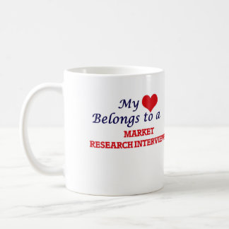 My heart belongs to a Market Research Interviewer Coffee Mug