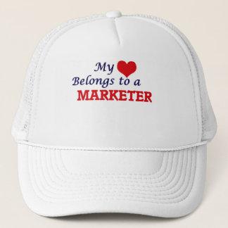 My heart belongs to a Marketer Trucker Hat