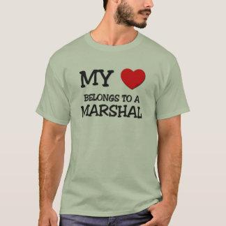 My Heart Belongs To A MARSHAL T-Shirt