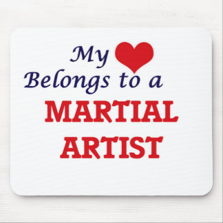 My heart belongs to a Martial Artist Mouse Pad