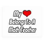 My Heart Belongs To A Math Teacher Postcard