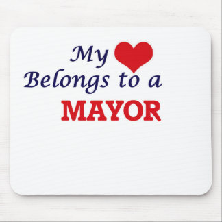 My heart belongs to a Mayor Mouse Pad