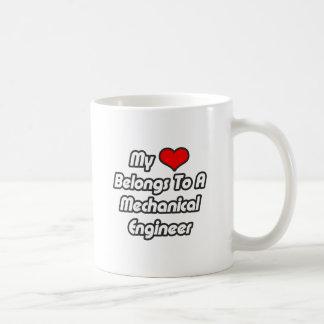 My Heart Belongs To A Mechanical Engineer Coffee Mug