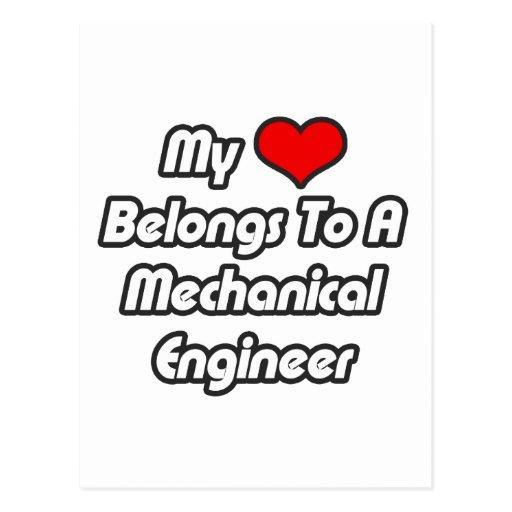 My Heart Belongs To A Mechanical Engineer Postcard
