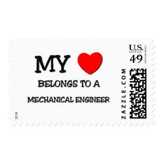 My Heart Belongs To A MECHANICAL ENGINEER Stamp