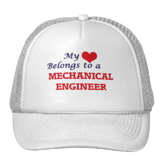 My heart belongs to a Mechanical Engineer Trucker Hat