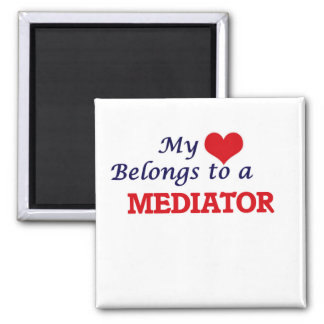 My heart belongs to a Mediator 2 Inch Square Magnet