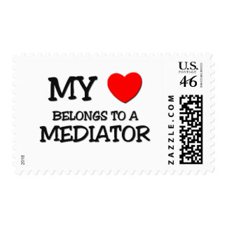 My Heart Belongs To A MEDIATOR Postage Stamps