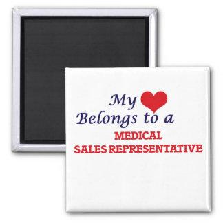 My heart belongs to a Medical Sales Representative Magnet