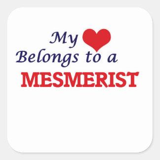 My heart belongs to a Mesmerist Square Sticker