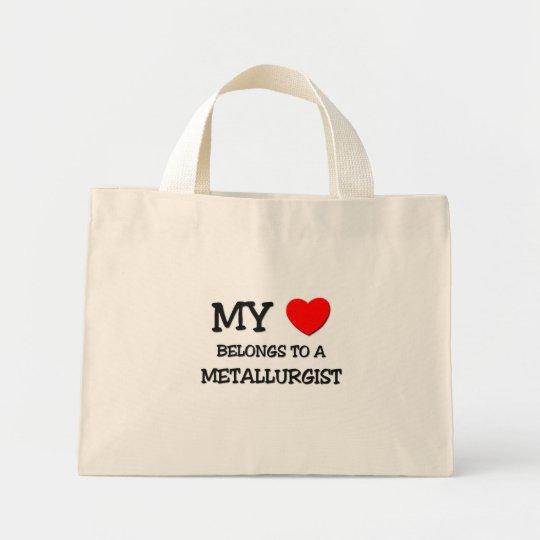 My Heart Belongs To A METALLURGIST Mini Tote Bag