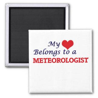 My heart belongs to a Meteorologist Magnet