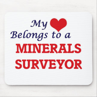 My heart belongs to a Minerals Surveyor Mouse Pad