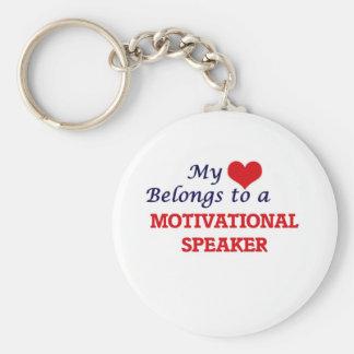 My heart belongs to a Motivational Speaker Keychain