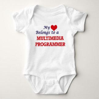 My heart belongs to a Multimedia Programmer Baby Bodysuit