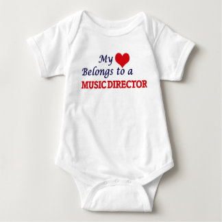 My heart belongs to a Music Director Baby Bodysuit